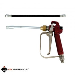 Injection gun with stiff nozzle and injection hose 30 cm