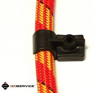 Plastic mounting clip for injection hose
